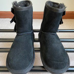 KOOLABURRA Kids Suede Boots With Bows - NEW - NWOB